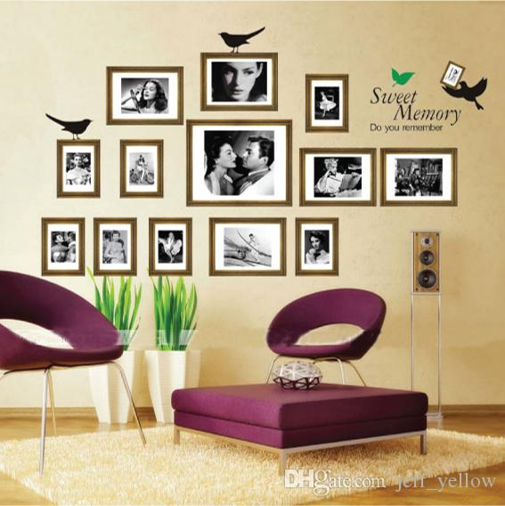 wall frames for living room bright colors sofa background bedroom removable photo frame stickers sweet memories widescreen wallpaper download from
