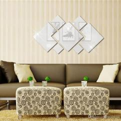 Wall Sofa Cowhide Throws Mirror Acrylic Rhombus Stickers Personalized Fashion Decoration For Home Bedroom Christmas Sticker Canada 2019 From Seamind