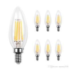 Kitchen Bulbs Used Appliances Led Candelabra Bulb Base Cob Filament Flame Vintage Candle Light For Home Dining Room Bedroom Living 2w 4w 6w Best