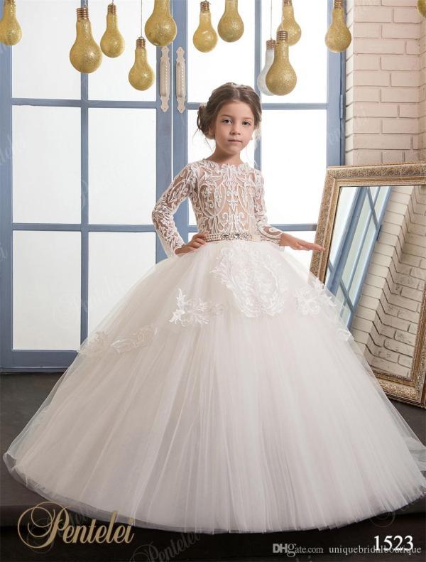 Wedding Dresses Flower Girls 2017 Pentelei Cheap With
