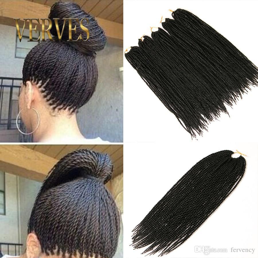 Brown Senegalese Twist Hair 18inch 30roots 70g Havana