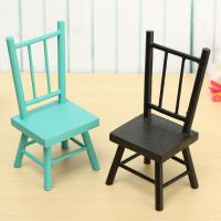 Wooden Craft Mini Small Chair Bench Stool Ornaments ...
