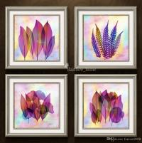 Best Modern Combination Painting Colorful Leaf Wall ...