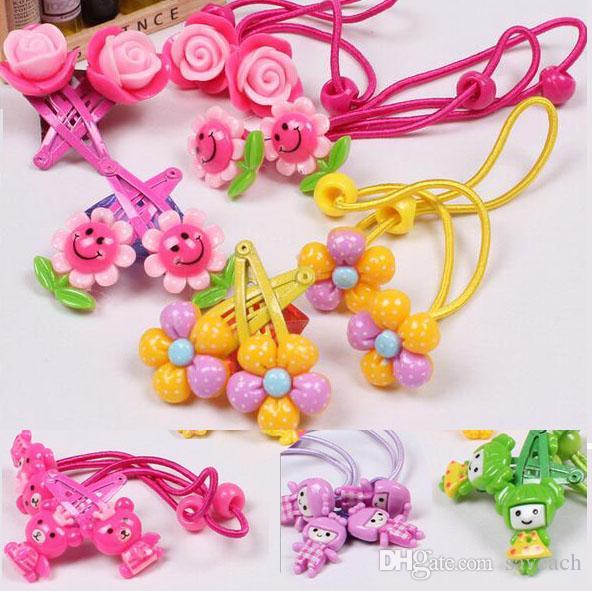 children s hair accessories girls barrettes kids korean flower clip baby cartoon hair tie girl princess hair clips unique hair accessories wholesale hair