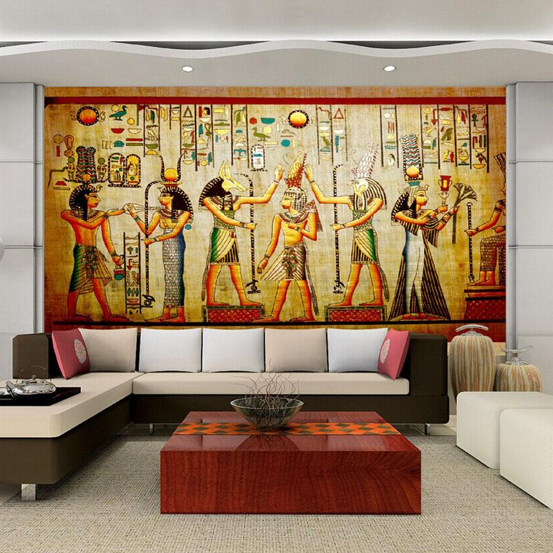 3d Egyptian Wall Murals Vintage Photo Wallpaper Custom