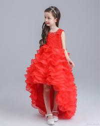 Retail 2016 New Flower Girl Long Red Dress Wedding Gowns ...
