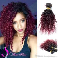 Peruvian Kinky Curly Hair Weaves 7a Curly Human Hair Weave ...
