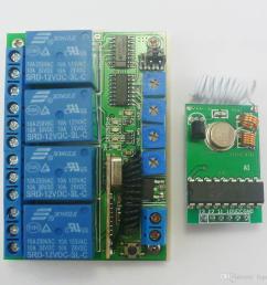 pt2262 transmitter control delay relay receiver kits rf wireless lamp led motor 433mhz transmitter control delay relay receiver online with 22 75 piece on  [ 1000 x 1000 Pixel ]