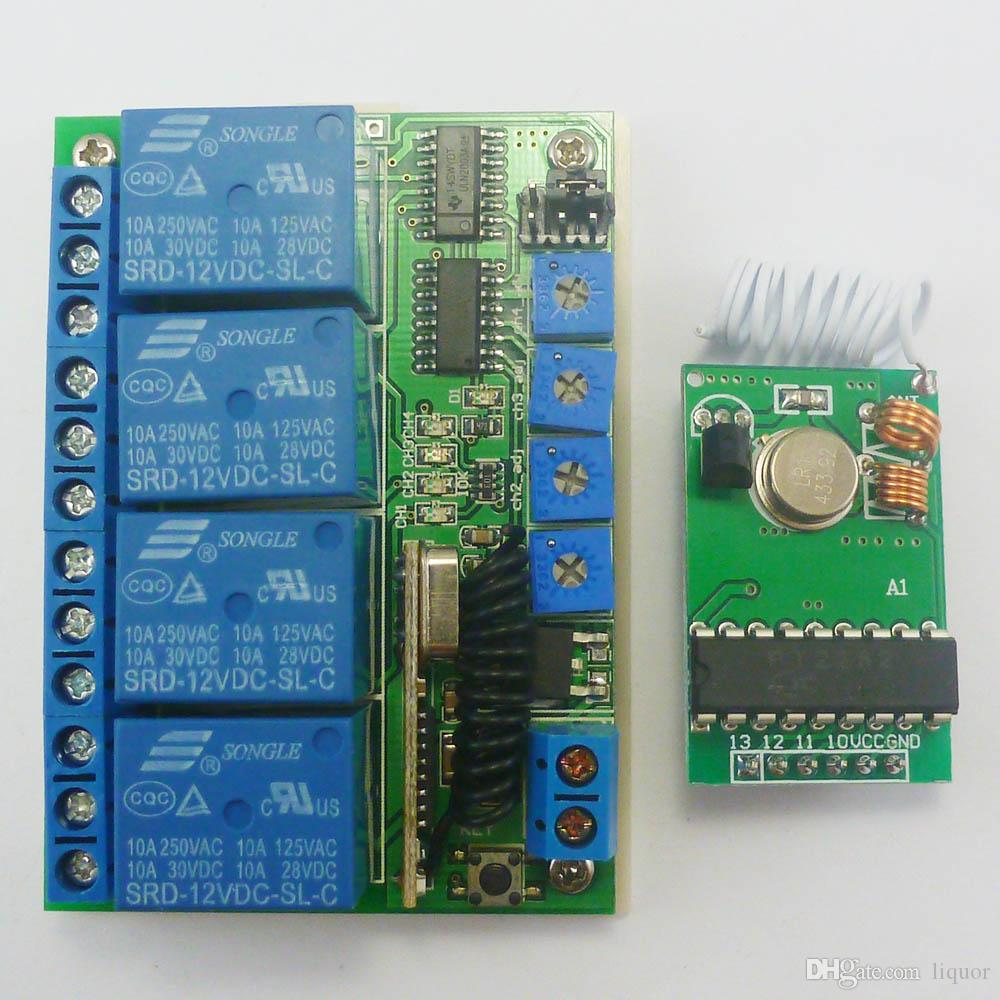 hight resolution of pt2262 transmitter control delay relay receiver kits rf wireless lamp led motor 433mhz transmitter control delay relay receiver online with 22 75 piece on