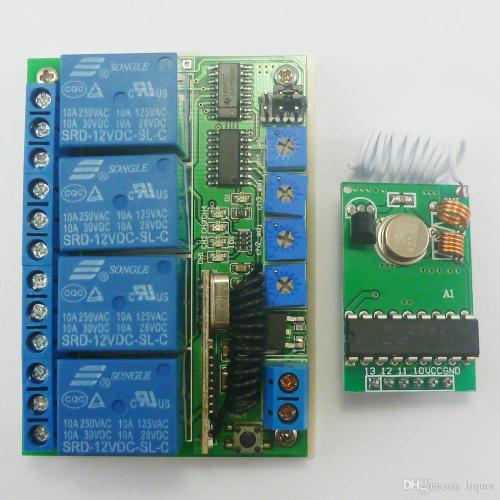small resolution of pt2262 transmitter control delay relay receiver kits rf wireless lamp led motor 433mhz transmitter control delay relay receiver online with 22 75 piece on