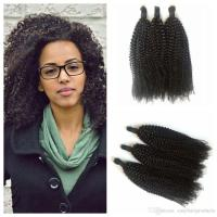 4a,4b,4c Afro Kinky Curly Human Hair Bulk For Braiding 8