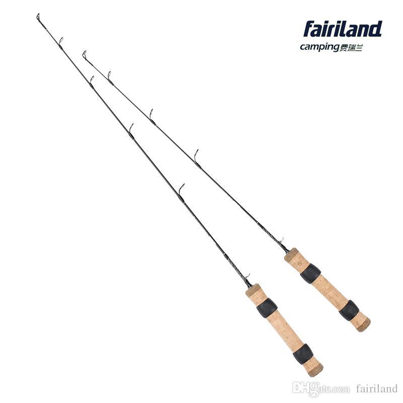2019 Wholesale 2ft 2.4ft L M Winter Ice Fishing Rod 61cm