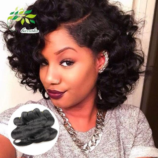 2017 fashionable cheap brazilian short body wave weave human hair 6 pcs /lot 300g short human hair exrensions brazilian hair weave