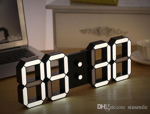 Creative Remote Control Large LED Digital Wall Clock
