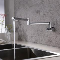 Kitchen Wall Faucets Islands Ikea Wholesale Solid Brass Mount Pot Filler Faucet Swivel Folding Retractable Rotary Stretch Vegetables Basin Sink 13 011