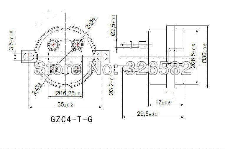 High Quality Ceramic 4pin Tube Socket For 2A3 300B PX4