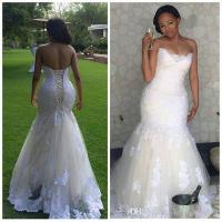 Elegant Africa Lace Mermaid Wedding Dresses Plus Size