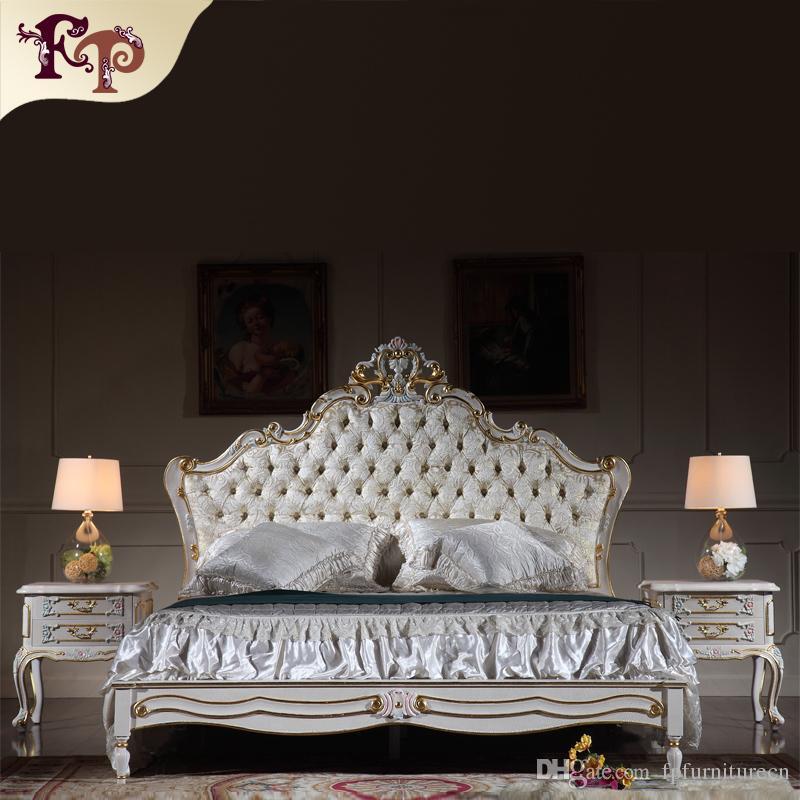 acheter meubles de reproduction antiques mobilier de chambre a coucher des redevances francaises lit queen sculpte en bois massif dore a la feuille de