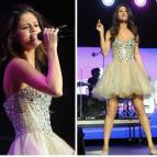 Selena Gomez Ball Gown Formal Dresses Sweetheart Crystals