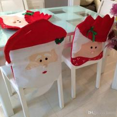 Santa Chair Covers Sets Dining Room Tables And Chairs Christmas Clause Cover Set Mr Mrs Babbo Natale Cheap Baby Best Red Spandex