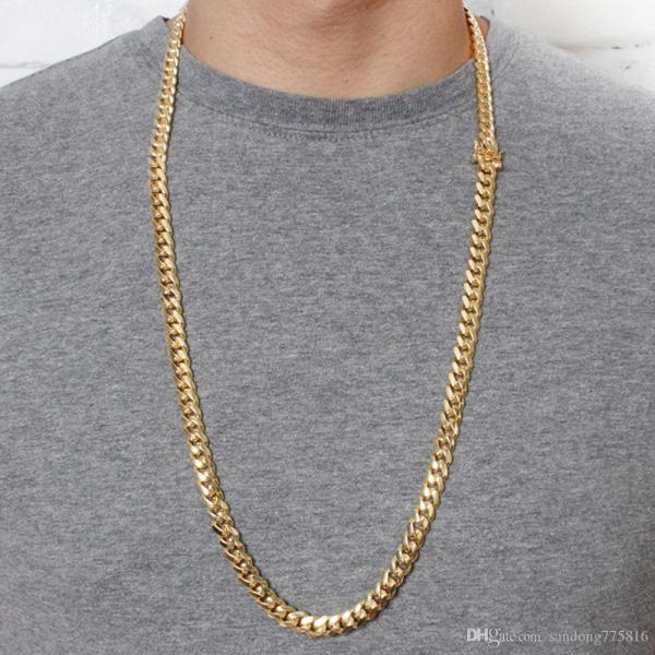 2019 Miami Cuban Link Curb Chain Solid 8mm 30inch 9inch Gold .925 Silver