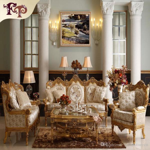 antique design living room 2019 Baroque Living Room Sofa Furniture Antique Classic Sofa Set European Style Sofa Set From