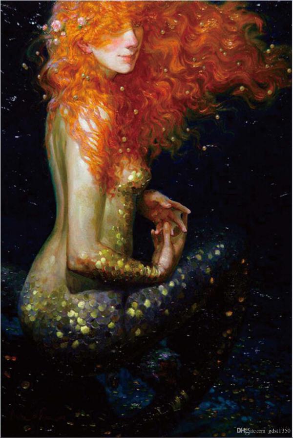 2019 12x18inch Victor Nizovtsev Mermaid Decor Prints