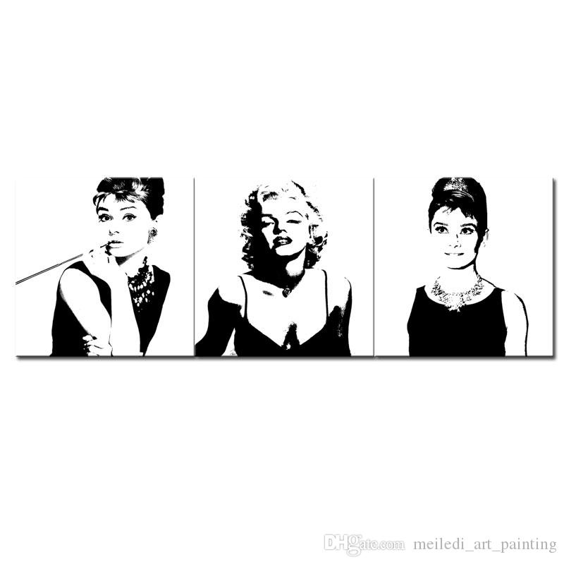 Online Cheap Art Large Classic Marilyn Monroe And Audrey