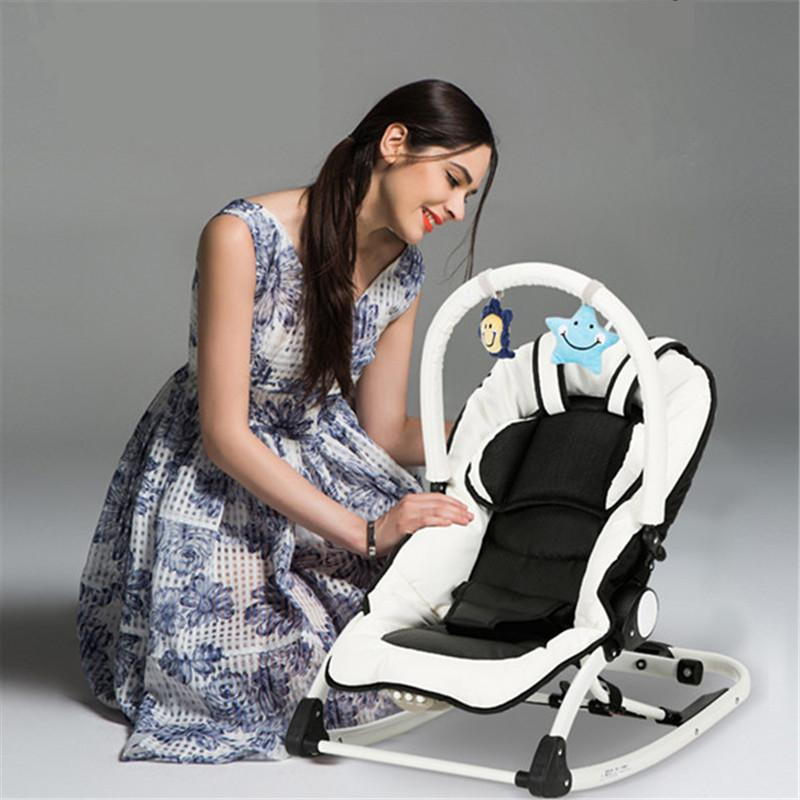 baby rocker chair kitchen table and chairs ikea fashion electric rocking multifunction portable cradle with music for 0 12 months kids upholstery modern wooden