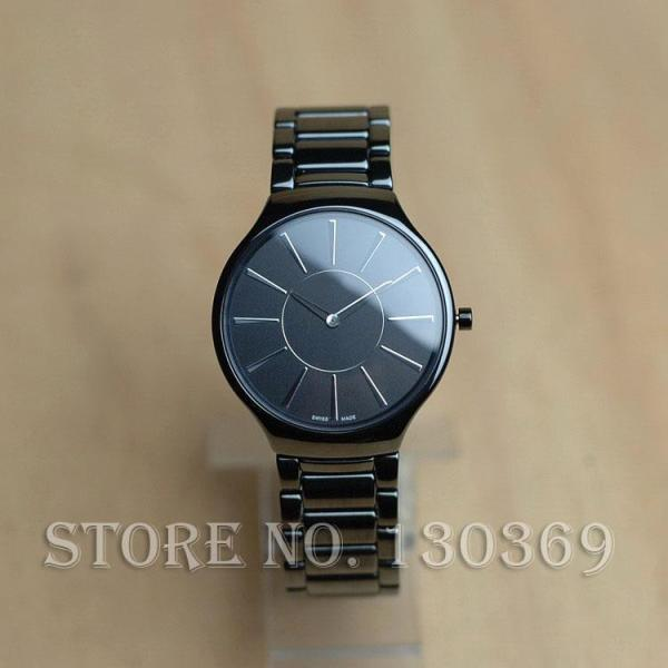 Ultra Thin Quartz Watches Men Ceramic Watches For Women