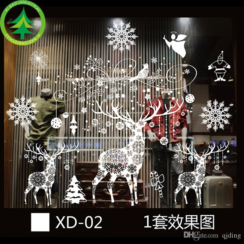 window sticker christmas decorations ...