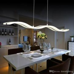 Light Kitchen Table Island Ideas Modern Led Pendant Lamp Acrylic Suspension Hanging Ceiling Design Dining Lighting For Home Dinning Room 38w