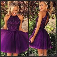 2016 Short Purple Tulle Homecoming Dresses For Summer 8th ...