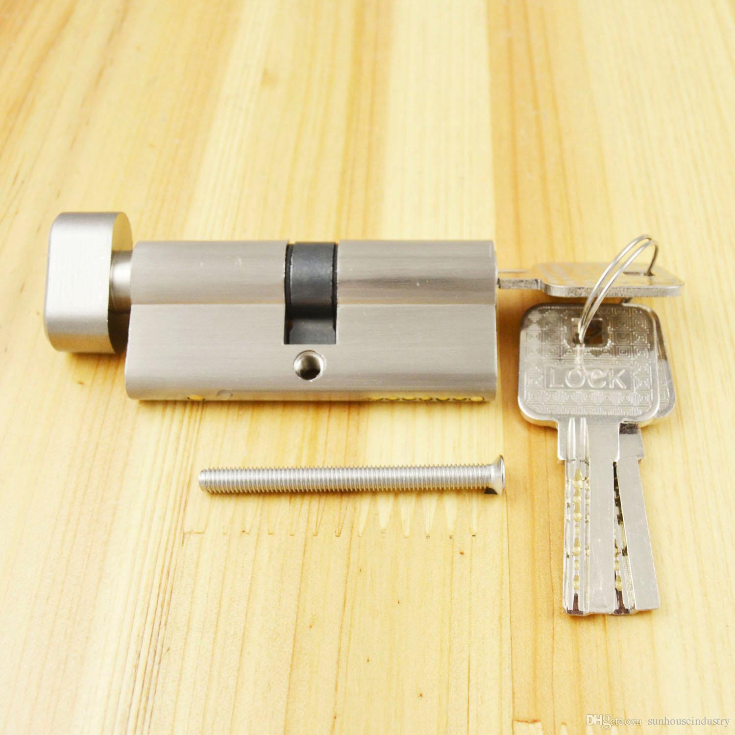 hight resolution of 2019 lock cylinder thumb turn cylinder 70mm35 35 lock cylinder with knob with 3 keys brush nickle from sunhouseindustry 6 89 dhgate com