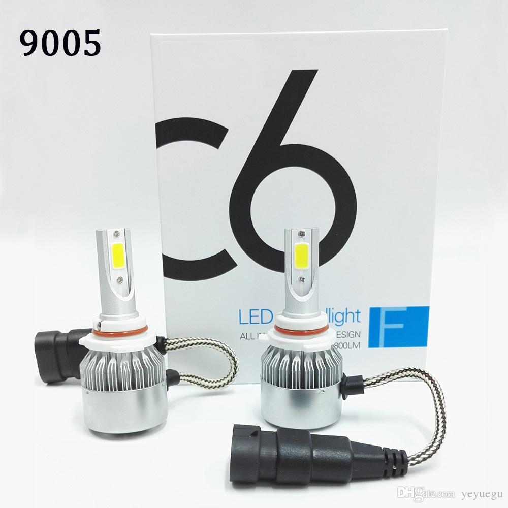 hight resolution of 2018 c6 car headlights 72w 7600lm led light bulbs h1 h3 h7 9005 9006 4 pin ballast wiring diagram 9007 bulb wiring into h1