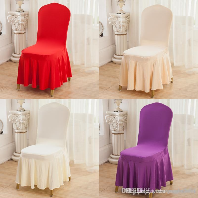 white armchair cover svan table and chair set hot sales scollap champagne black red purple spandex elastic milk silk for wedding banquet party hotel dining