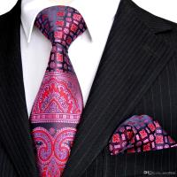 E4 Tie Sets Pink Navy Blue Purple Floral Pattern Mens ...