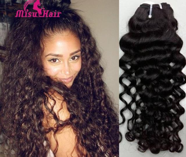 A Malaysian Curly Hair  Bundles Top Quality Italian Curly Malaysian Human Hair Deep Wave Human Hair Weft