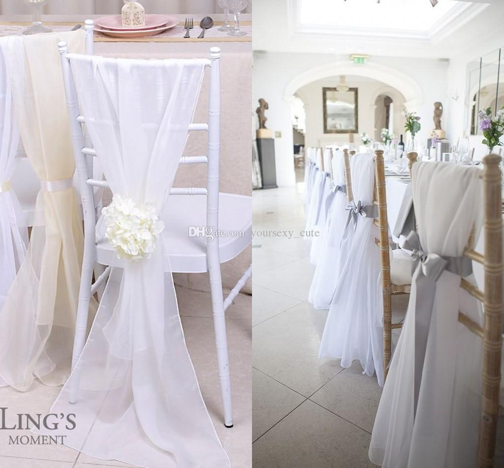 chair covers ivory wedding double swivel 2017 lovely chiavari sashes 30d chiffon 150cm