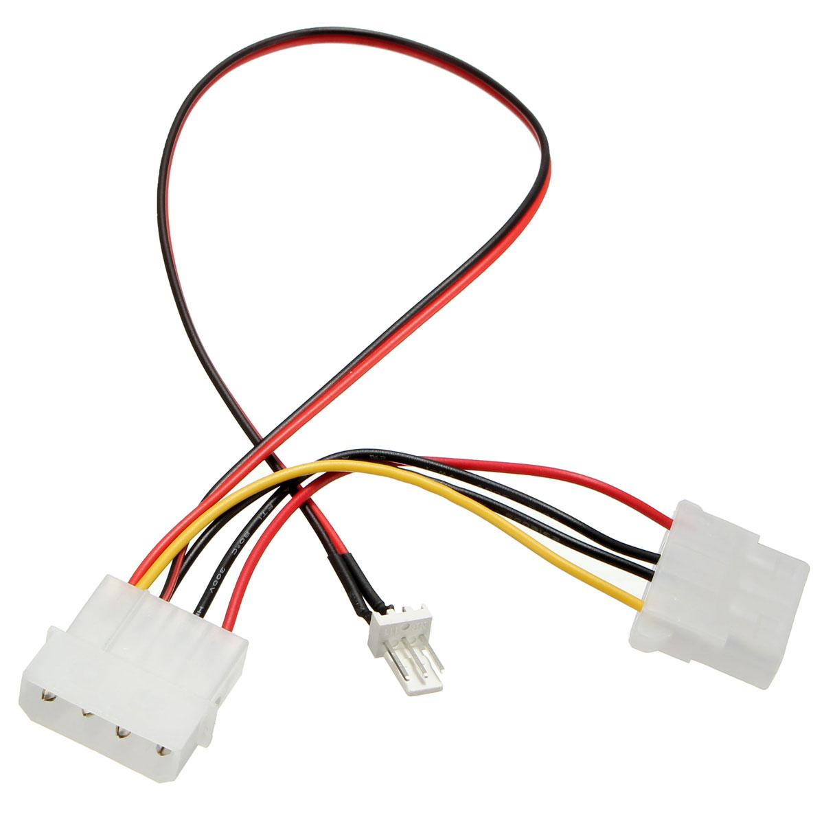 hight resolution of wholesale new arrival 3 pins to 4 pins ide power connector cable extension cord adapter for pc cpu fan computer cables connectors cables for less pc cables
