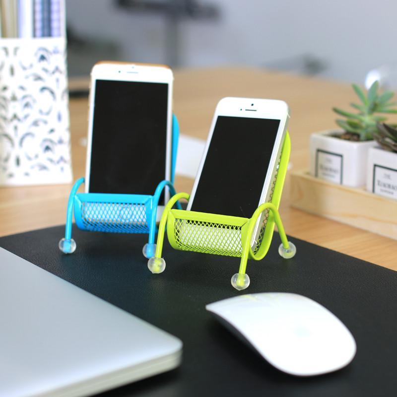 smartphone support le plus recent support de telephone portable bureau paresseux stand chaise de telephone portable en metal supports pour iphone 5 5s 6 6s