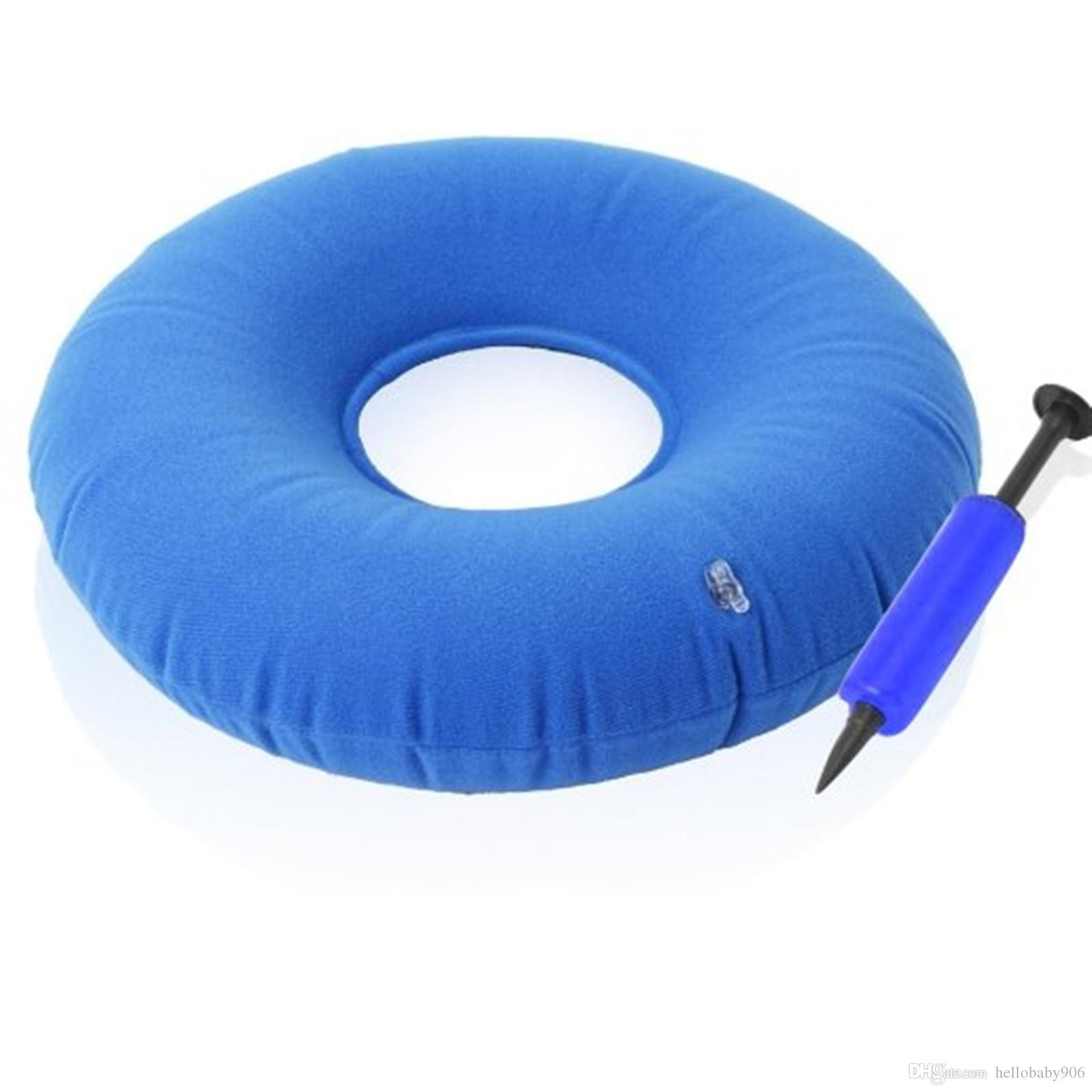 wheelchair cushion types hammock chair stand australia 15 inflatable hemorrhoid seat pump blue donut