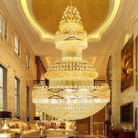 Luxury Gold Chandelier Palace Swirl Large Crystal Pendant ...