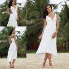 Summer Beach Wedding Dresses Short