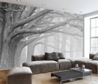 Tree Design Wallpaper Living Room - [peenmedia.com]