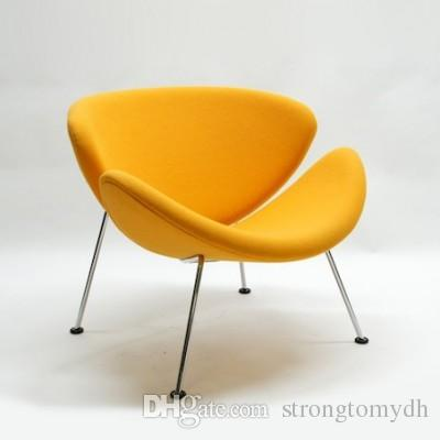orange slice chair home office chairs without wheels 2019 wholesale pierre paulin little tulip fabric sofa modern classic furniture arm living room bedroom from