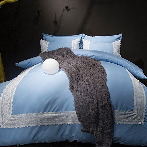 acheter ensemble de draps de lit ensemble de literie en polyester microfibre brosse literie anti taches anti allergique 4 pieces de 38 46 du smile0218