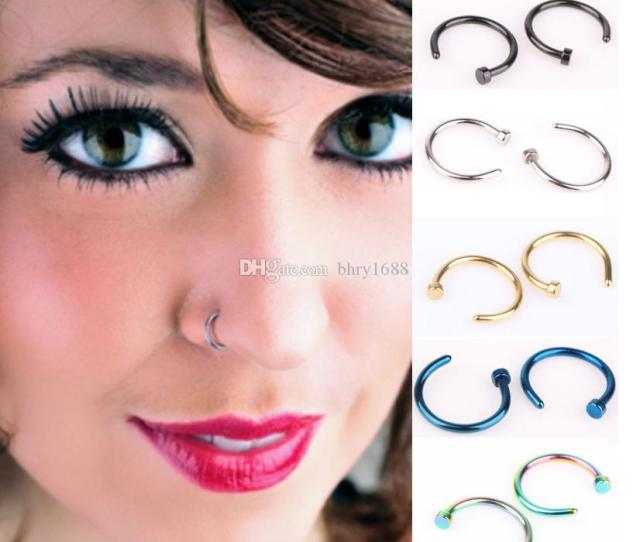 Pcs Trendy Nose Rings Body Piercing Jewelry Jpg