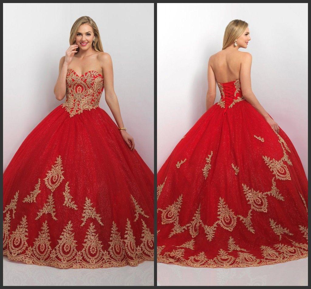 Red And Gold Sweet 16 Dresses Wwwpixsharkcom Images