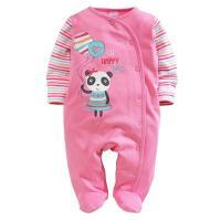 2017 Panda Baby Girl Pajamas Romper Foot Cover Newborn ...